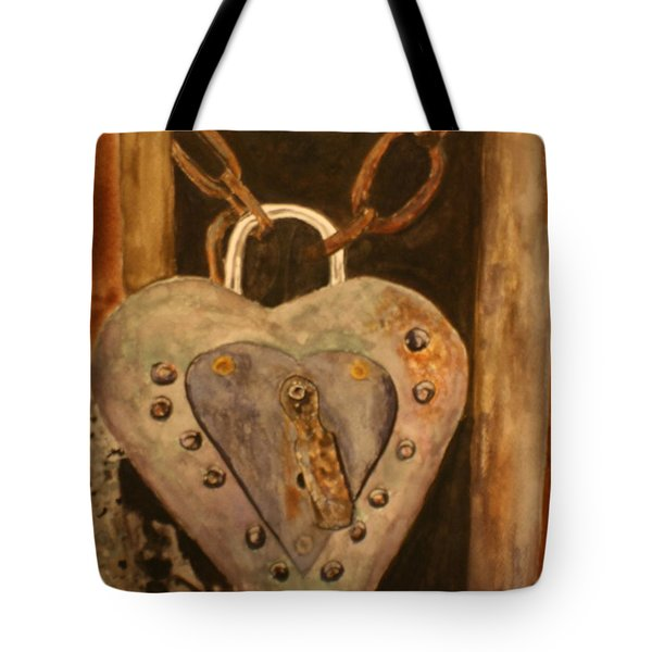 Parthenay Padlock Tote Bag by Betty-Anne McDonald