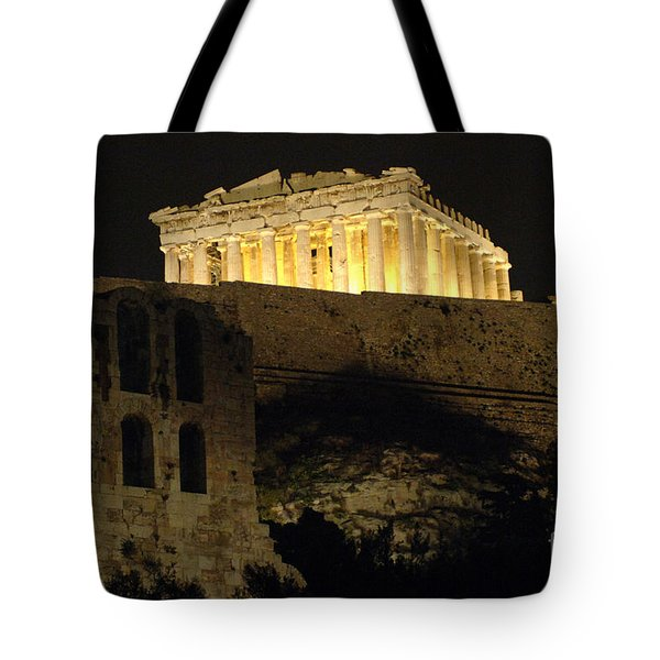Parthenon Athens Tote Bag by Bob Christopher