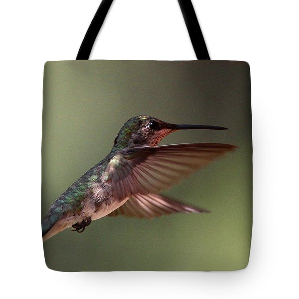 Partial Shade For The Ruby- Throated Hummingbird Tote Bag by Travis Truelove
