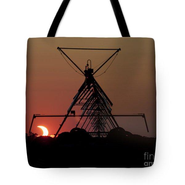Partial Solar Eclipse Tote Bag