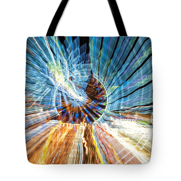 Particle Accelerator With Angel Tote Bag by Jim Moore