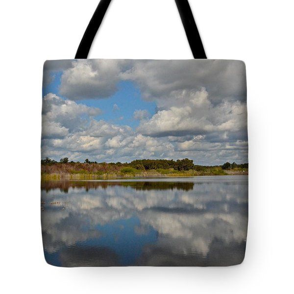 Partly Cloudy Tote Bag by Carol  Bradley