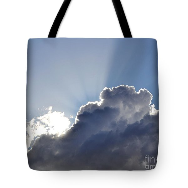 Partly Cloudy Tote Bag by Rebecca Margraf