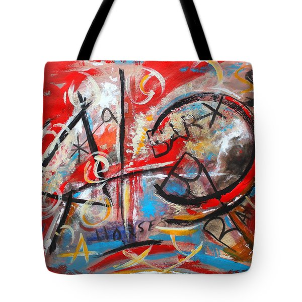 Tote Bag featuring the painting Party At The Ranch by M Diane Bonaparte