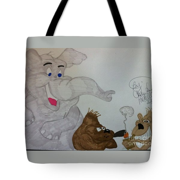 Partying Animals Cartoon Tote Bag