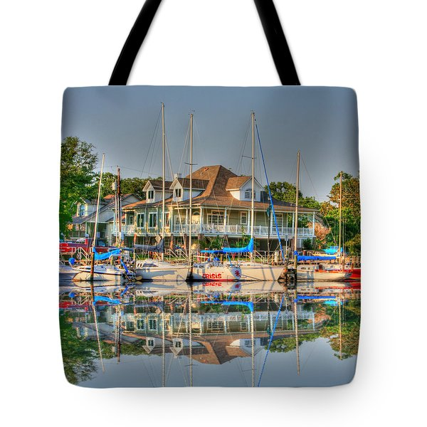 Pascagoula Boat Harbor Tote Bag