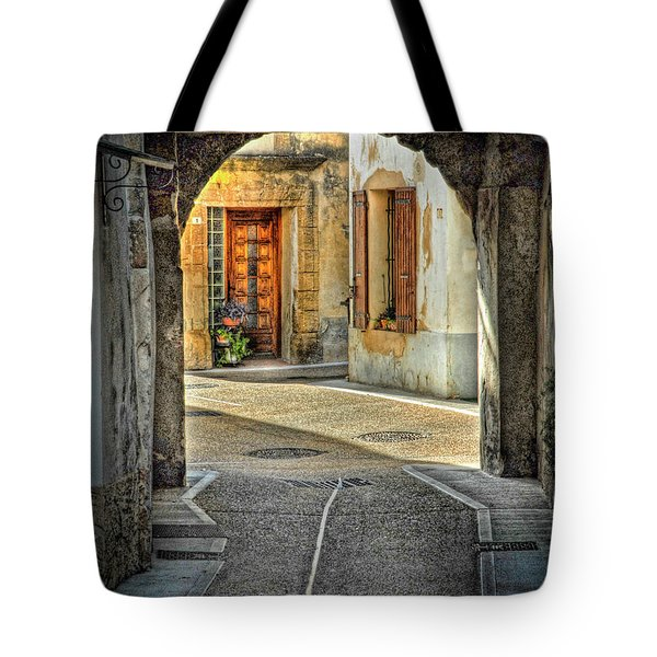 Tote Bag featuring the photograph Passageway And Arch In Provence by Dave Mills