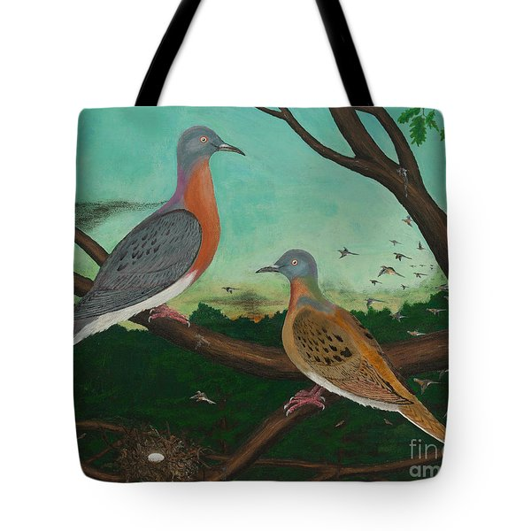 Passenger Pigeon Evening Flight Tote Bag