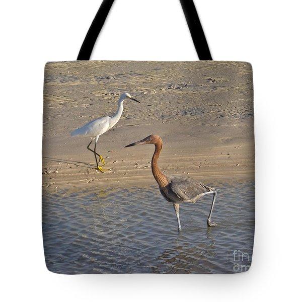 Passing Egrets Tote Bag