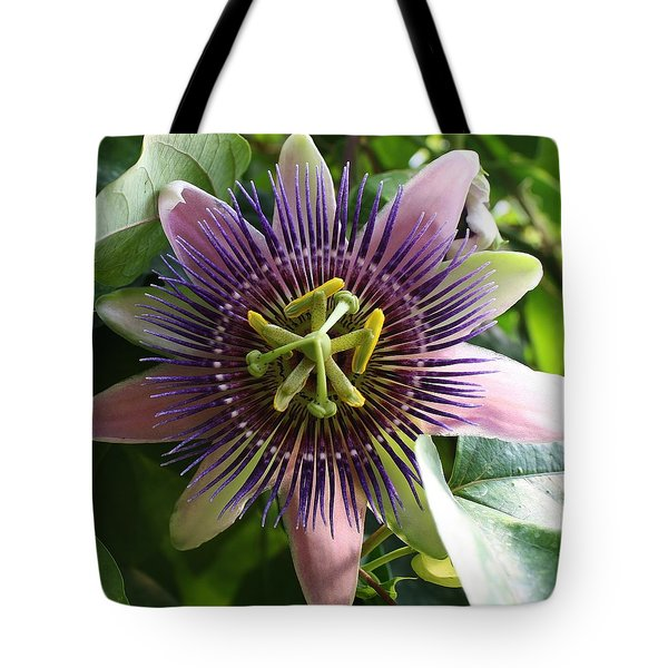 Tote Bag featuring the photograph Passion Flower 2 by Bruce Bley