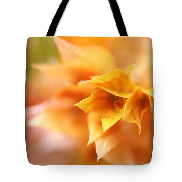 Passion For Flowers. Orange Delight Tote Bag by Jenny Rainbow