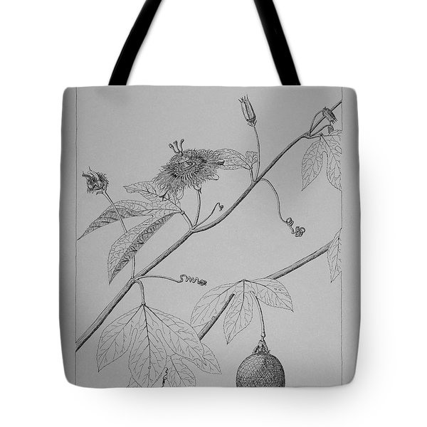 Passionflower Vine Tote Bag