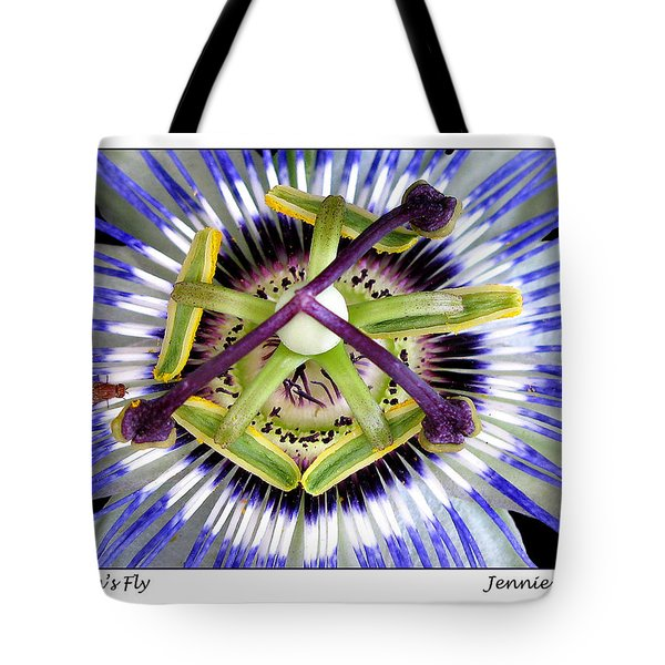 Tote Bag featuring the photograph Passion's Fly by Jennie Breeze