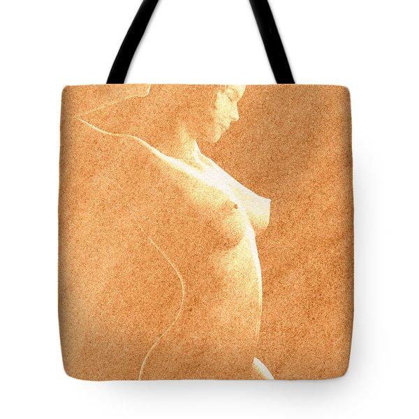 Pastel Chiaroscuro Nude Tote Bag by Hakon Soreide