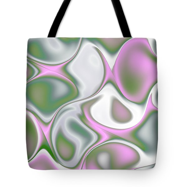 Pastel Colored Teardrop Fractal Tote Bag by Gina Lee Manley