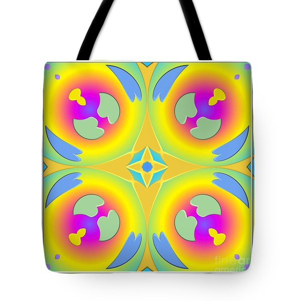 Pastel Hearts Warp 2 Tote Bag by Rose Santuci-Sofranko