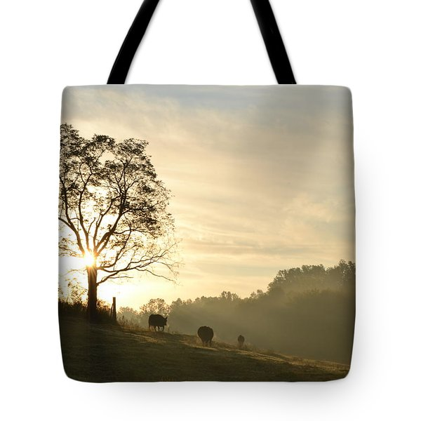 Pasture Sunrise Tote Bag