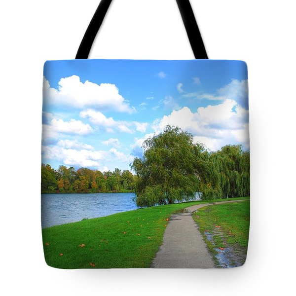 Tote Bag featuring the photograph Path by Michael Frank Jr