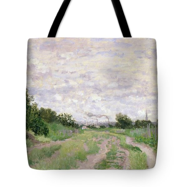 Path Through The Vines At Argenteuil Tote Bag by Claude Monet