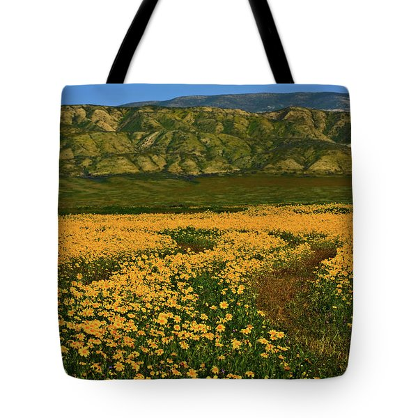 Path Through The Wildflowers Tote Bag