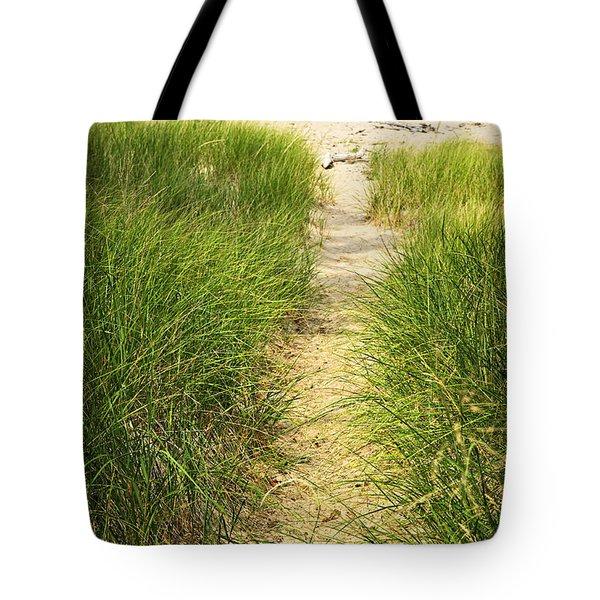 Path To Beach Tote Bag by Elena Elisseeva