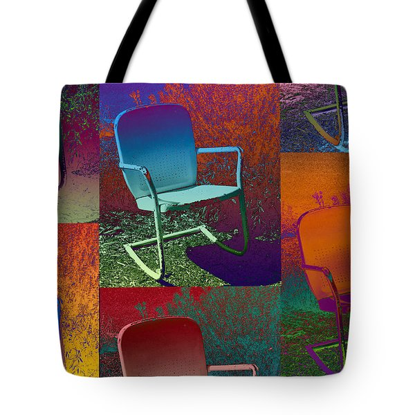 Tote Bag featuring the photograph Patio Chair by David Pantuso