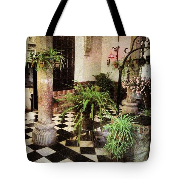 Patio Toledano 2 Tote Bag