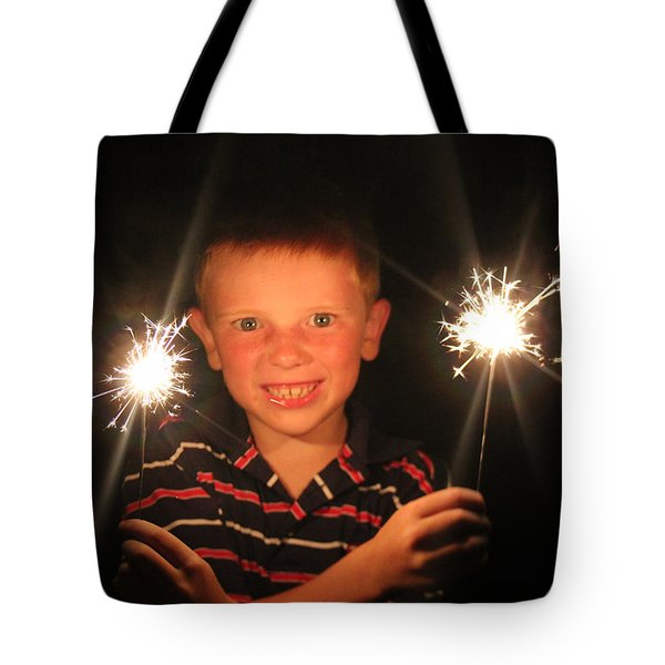 Tote Bag featuring the photograph Patriotic Boy by Kelly Hazel