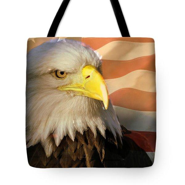 Patriotic Eagle Tote Bag by Marty Koch