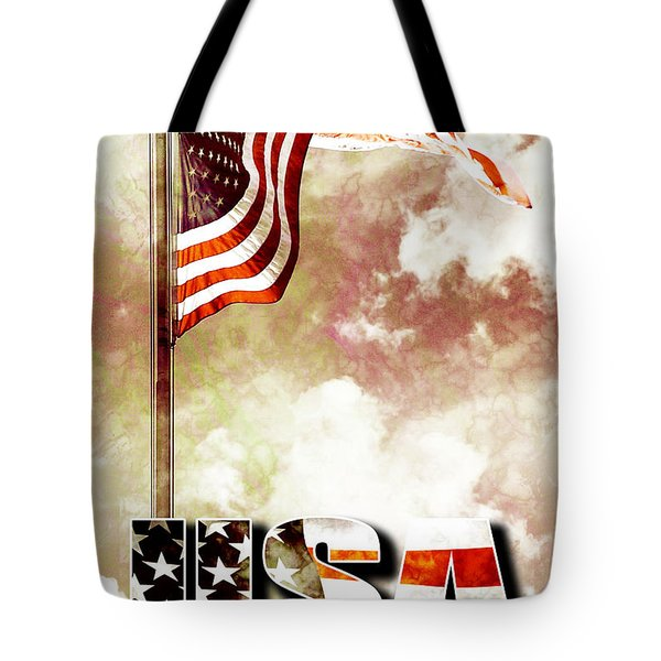 Patriotism The American Way Tote Bag by Phill Petrovic