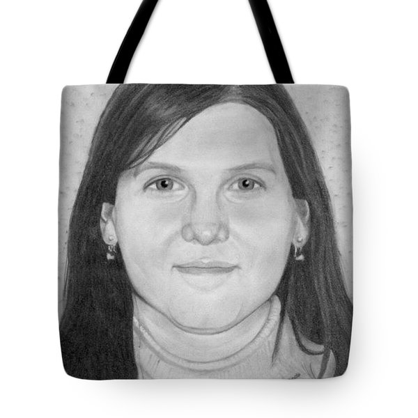 Tote Bag featuring the drawing Pauline Richards by Ana Tirolese