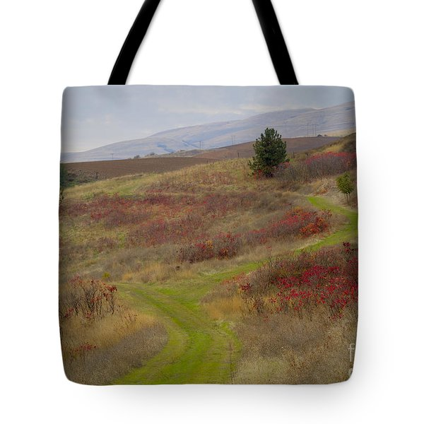 Paved In Green Tote Bag by Idaho Scenic Images Linda Lantzy