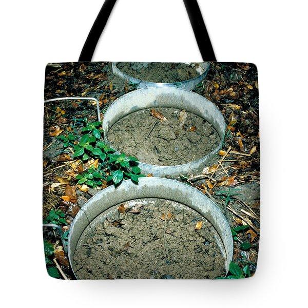 Pcb Eating Microbes Tote Bag by DOE / Science Source
