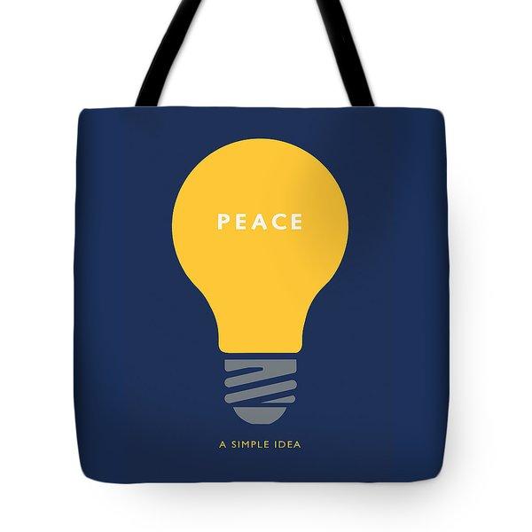 Tote Bag featuring the digital art Peace A Simple Idea by David Klaboe