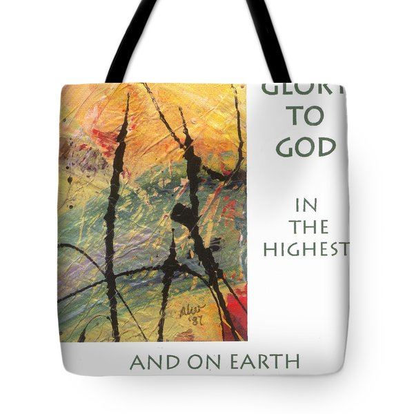 Peace And Goodwill Toward Men Tote Bag