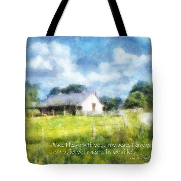 Peace Be With You Tote Bag by Francesa Miller