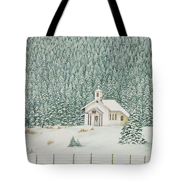 Peace In The Mountains Tote Bag by Mary Ann King