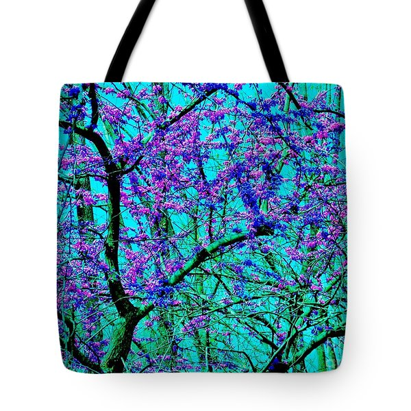 Tote Bag featuring the photograph Spring Arrives - Peace Tree by Susan Carella