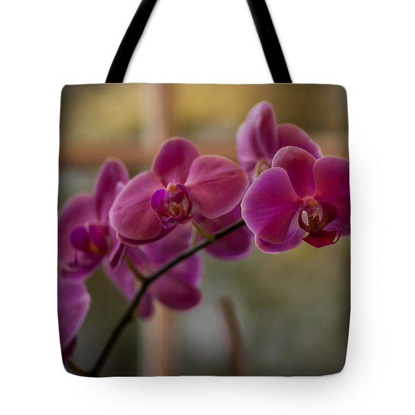 Peaceful Orchids Tote Bag by Mike Reid
