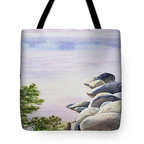 Peaceful Place Morning At The Lake Tote Bag by Irina Sztukowski
