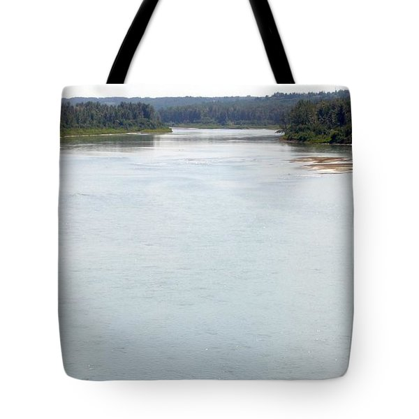Tote Bag featuring the photograph Peaceful Waters by Jim Sauchyn