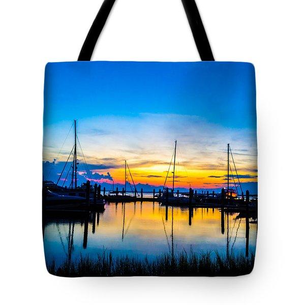 Peacefull Sunset Tote Bag