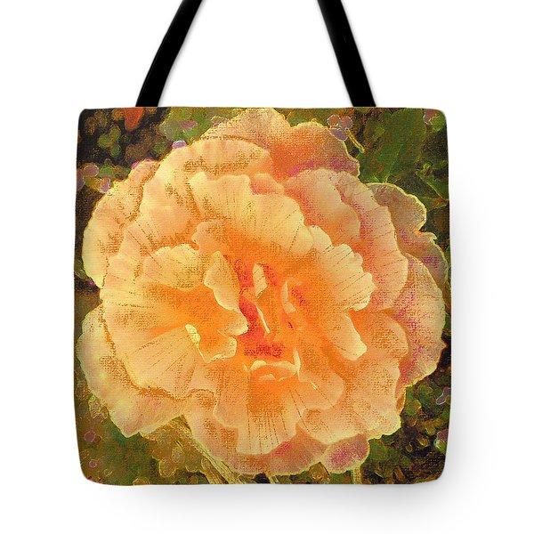 Peach Begonia Tote Bag