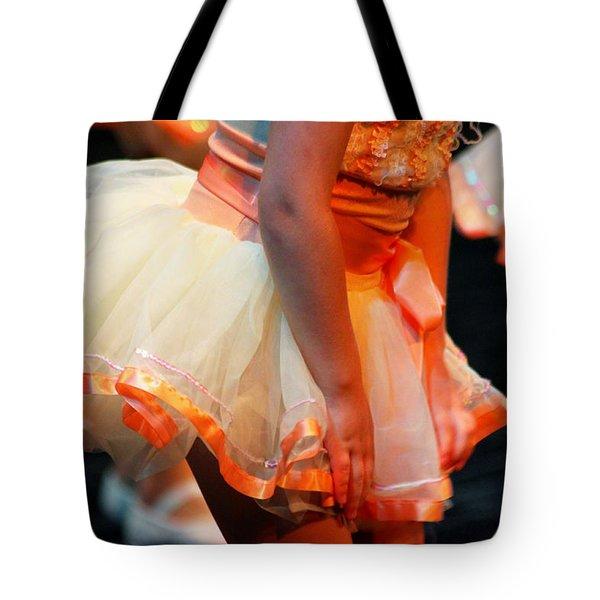 Peach Tutu Tote Bag by Lauri Novak