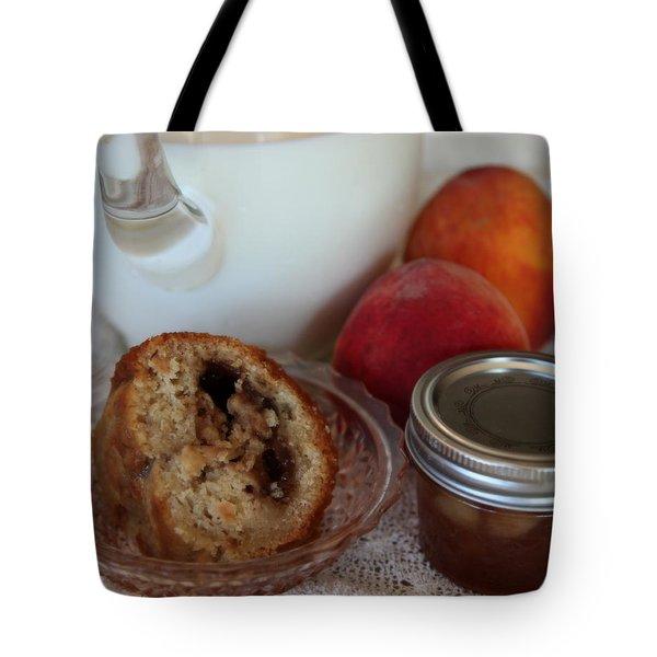 Peaches N Cream Tote Bag by Karen Wiles