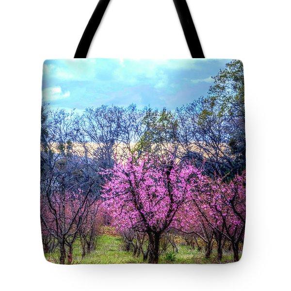 Peachy Blossum Scene2 Tote Bag