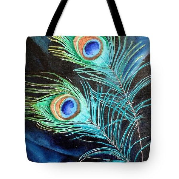 Peacock Beauties Tote Bag