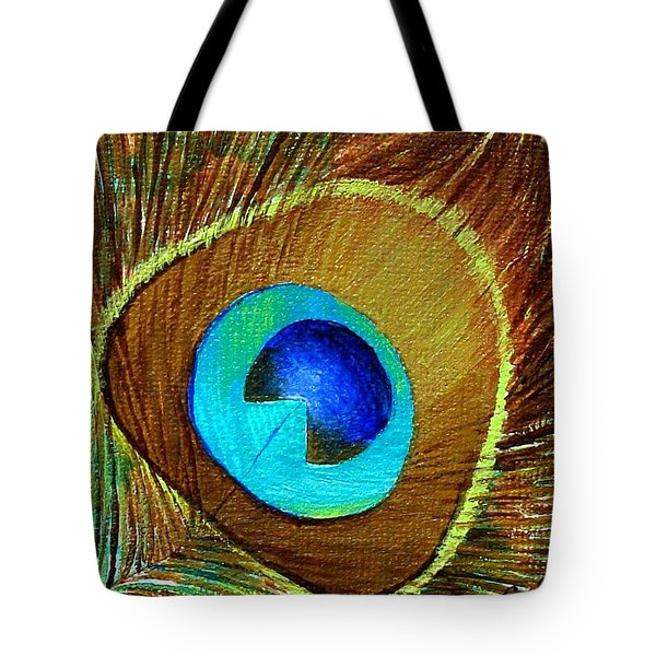 Peacock Feather 1 Tote Bag by Oddball Art Co by Lizzy Love