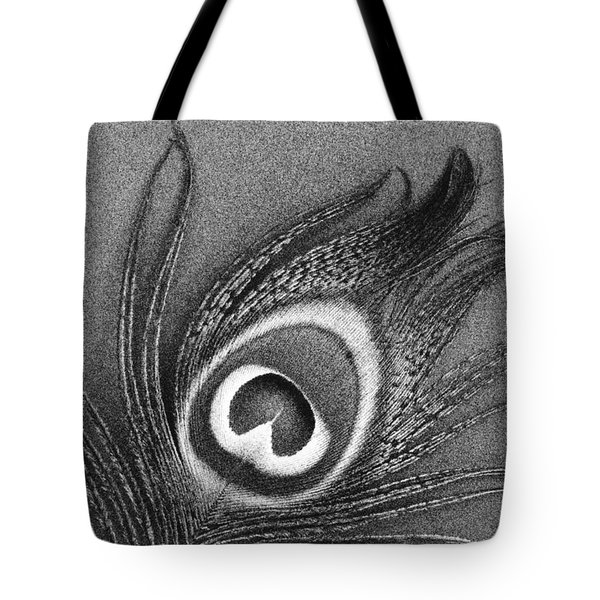 Peacock Feather Tote Bag by Mark Greenberg