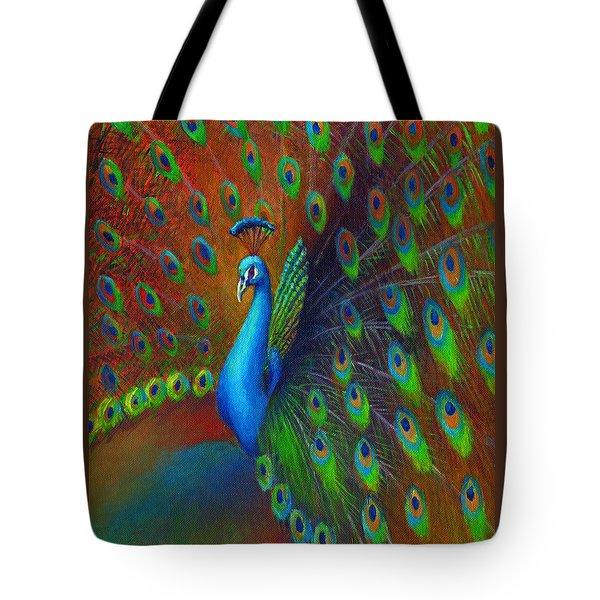 Peacock Spread Tote Bag